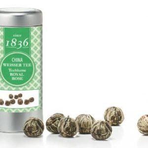 Boules de thé blanc Royal Rose boutique Histoires de thés à Cosne-sur-Loire 58200