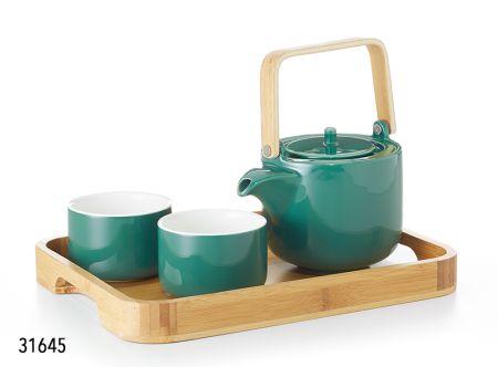 Service à thé Petula plateau en bambou boutique Histoires de thés à Cosne-sur-Loire 58200