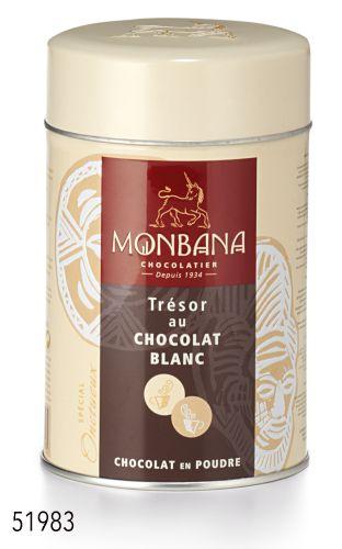Chocolat blanc en poudre Monbana Trésor de chocolat blanc boutique Histoires de thés à Cosne-sur-Loire 58200
