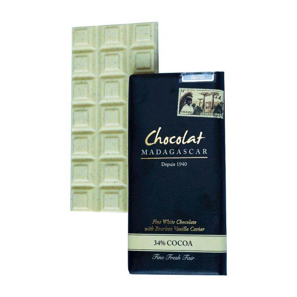 Tablette chocolat blanc caviar de vanille Madagascar boutique Histoires de thés à Cosne-sur-Loire 58200
