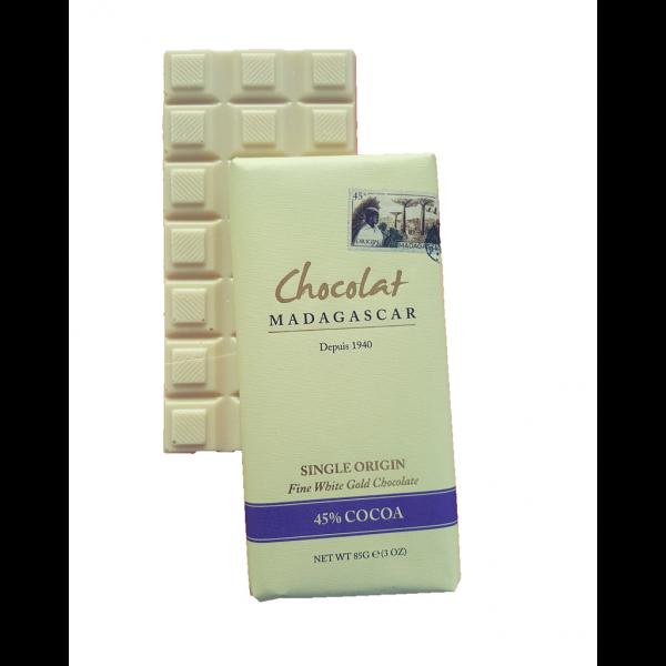 Tablette chocolat blanc beurre de cacao de Madagascar boutique Histoires de thés à Cosne-sur-Loire 58200
