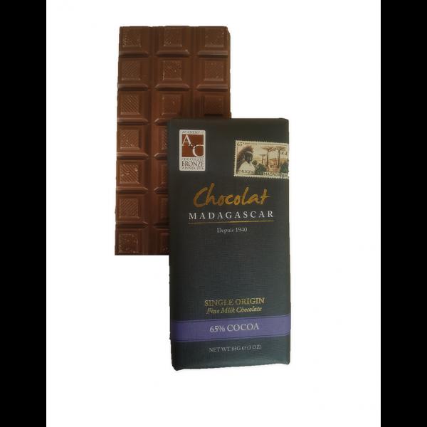 Tablette de chocolat au lait 65% boutique Histoires de thés à Cosne-sur-Loire 58200