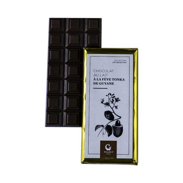 Tablette de chocolat au lait à la fève Tonka boutique Histoires de thés à Cosne-sur-Loire 58200