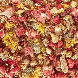 Tisane bio gingembre et fraise boutique Histoires de thés à Cosne-sur-Loire 58200