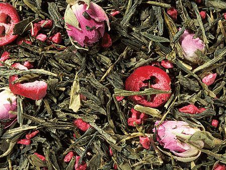 Thé vert sencha cranberries rose boutique Histoires de thés à Cosne-sur-Loire 58200