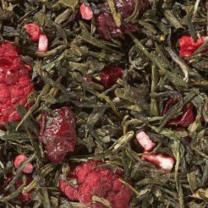 Mélange thés fraise rhubarbe boutique Histoires de thés à Cosne-sur-Loire 58200