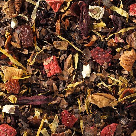 Infusion bio chocolat fraise boutique Histoires de thés à Cosne-sur-Loire 58200