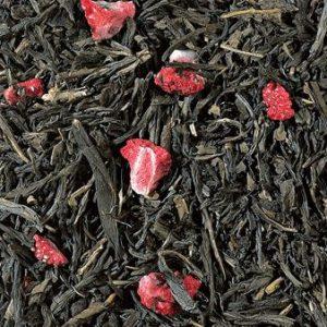 Thé vert déthéiné sencha fraise boutique Histoires de thés à Cosne-sur-Loire