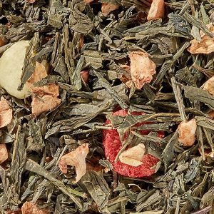 Thé vert fraise groseille boutique Histoires de thés