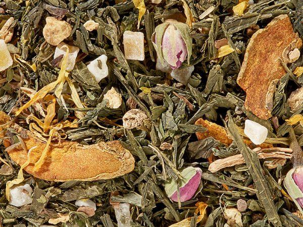 Thé vert mangue ras el hanout menthe boutique Histoires de thés