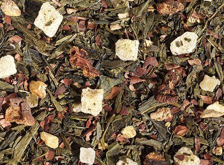 Thé vert chocolat poire gingembre boutique Histoires de thés