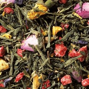 Thé vert Sencha framboise boutique Histoires de thés à Cosne sur Loire